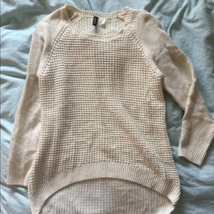H&M knitted cream sweater